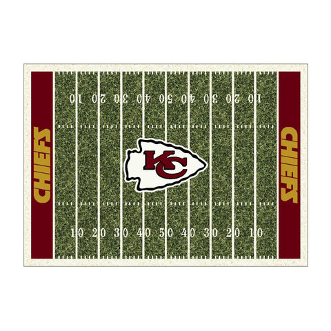 KANSAS CITY CHIEFS 4X6 HOMEFIELD RUG