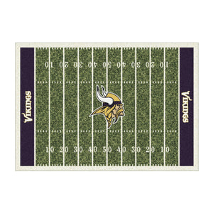 MINNESOTA VIKINGS 8X11 HOMEFIELD RUG