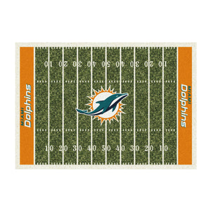 MIAMI DOLPHINS 6X8 HOMEFIELD RUG