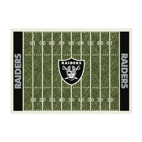 OAKLAND RAIDERS 8X11 HOMEFIELD RUG