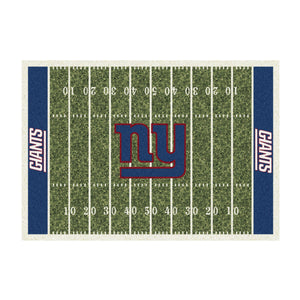 NEW YORK GIANTS 8X11 HOMEFIELD RUG