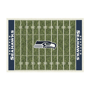 SEATTLE SEAHAWKS 8X11 HOMEFIELD RUG