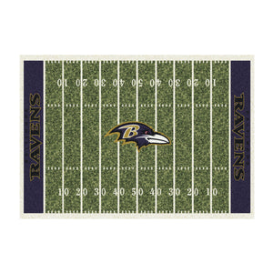 BALTIMORE RAVENS 6X8 HOMEFIELD RUG