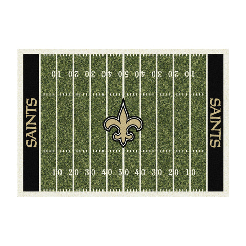 NEW ORLEANS SAINTS 6X8 HOMEFIELD RUG