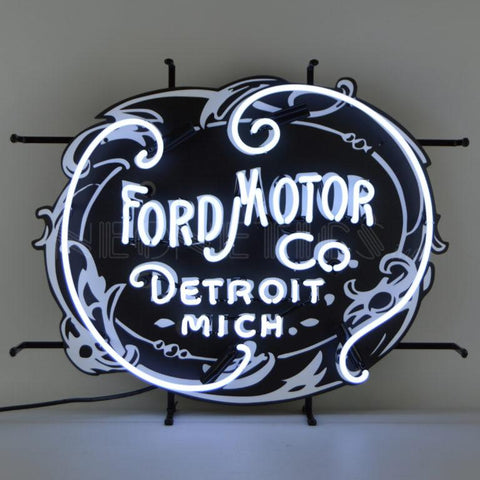 Baldwin Ford Motor Company 1903 Heritage Emblem Neon Sign