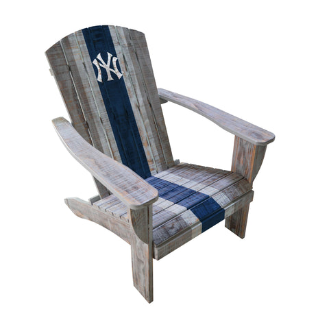 NEW YORK YANKEESS WOODEN ADIRONDACK CHAIR
