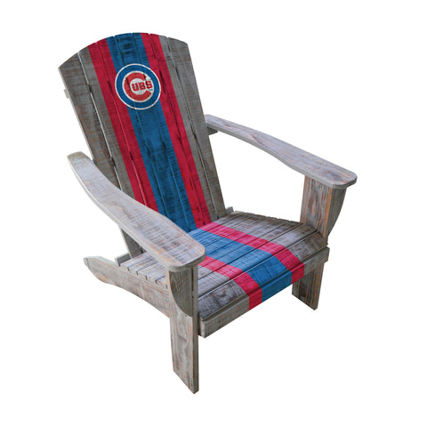 CHICAGO CUBS WOODEN ADIRONDACK CHAIR