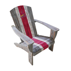 STL CARDINALS WOODEN ADIRONDACK CHAIR