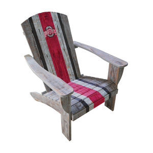 OHIO STATE WOODEN ADIRONDACK CHAIR