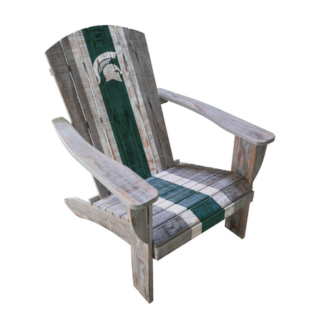 MICHIGAN STATE WOODEN ADIRONDACK CHAIR