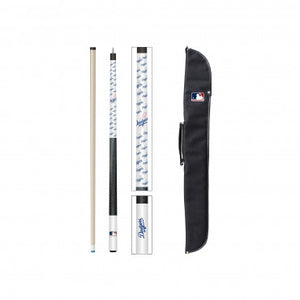 LOS ANGELES DODGERS CUE AND CASE SET