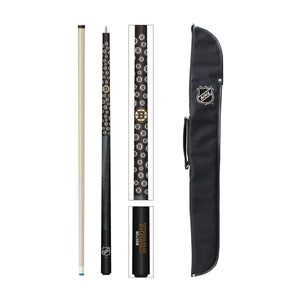 BOSTON BRUINS CUE AND CASE COMBO SET