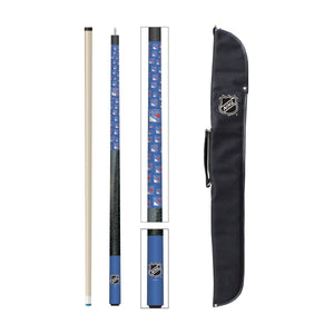 NEW YORK RANGERS CUE AND CASE COMBO SET