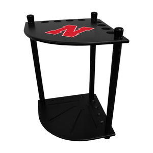 UNIVERSITY OF NEBRASKA CORNER CUE RACK