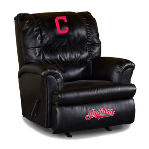 CLEVELAND INDIANS LEATHER BIG DADDY RECLINER