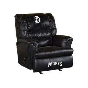 SAN DIEGO PADRES LEATHER BIG DADDY RECLINER