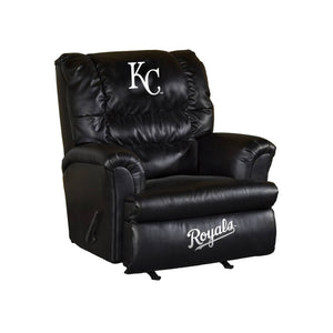 KANSAS CITY ROYALS LEATHER BIG DADDY RECLINER