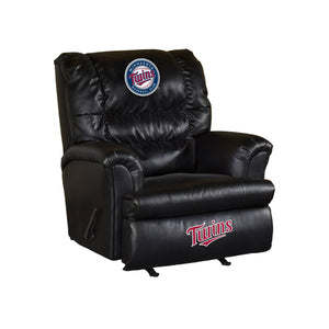 MINNESOTA TWINS LEATHER BIG DADDY RECLINER