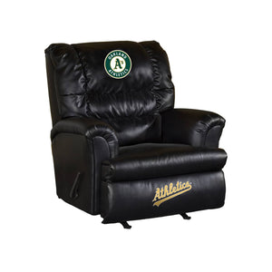 OAKLAND ATHLETICS LEATHER BIG DADDY RECLINER