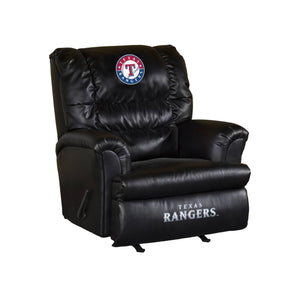 TEXAS RANGERS LEATHER BIG DADDY RECLINER
