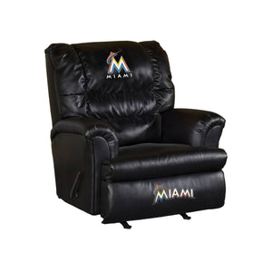 MIAMI MARLINS LEATHER BIG DADDY RECLINER