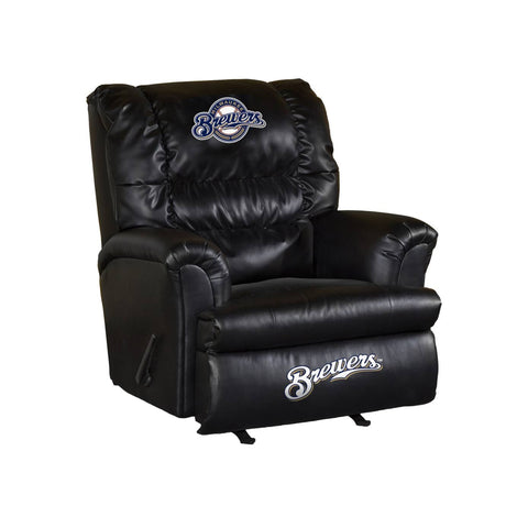 MILWAUKEE BREWERS LEATHER BIG DADDY RECLINER