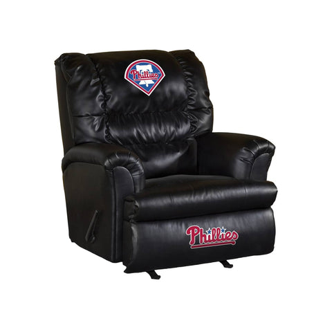 PHILADELPHIA PHILLIES LEATHER BIG DADDY RECLINER
