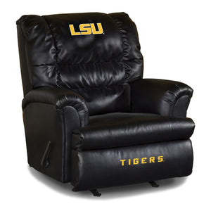 LOUISIANA STATE UNIVERSITY LEATHER BIG DADDY RECLINER