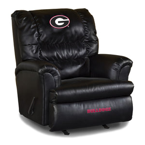 UNIVERSITY OF GEORGIA LEATHER BIG DADDY RECLINER