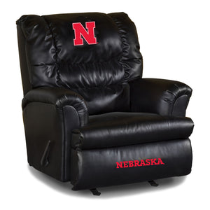 UNIVERSITY OF NEBRASKA LEATHER BIG DADDY RECLINER