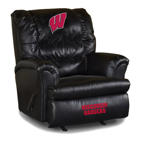 UNIVERSITY OF WISCONSIN LEATHER BIG DADDY RECLINER