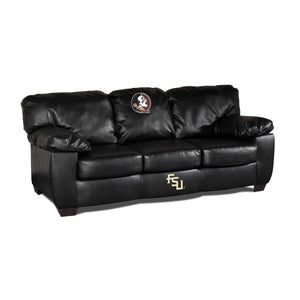 FLORIDA STATE BLK LEATHER CLASSIC SOFA