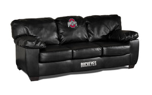 OHIO STATE BLK LEATHER CLASSIC SOFA