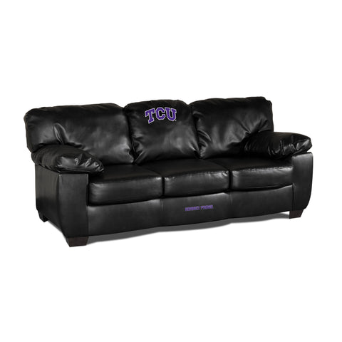 TCU BLK LEATHER CLASSIC SOFA