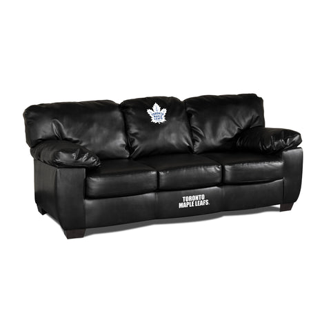 TORONTO MAPLE LEAFS BLK LEATHER CLASSIC SOFA