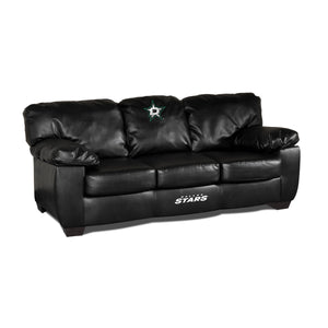 DALLAS STARS BLK LEATHER CLASSIC SOFA