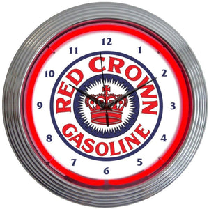 Aritra Red Crown Gasoline Neon Clock