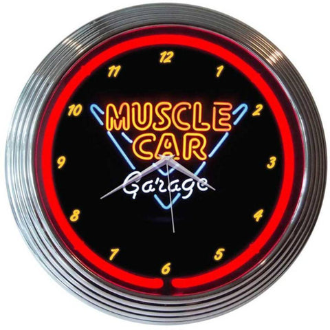 Lucjan Muscle Car Garage Neon Clock