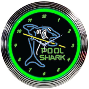 Branislava Pool Shark Neon Clock
