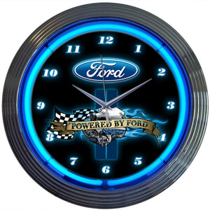 Bruna Powered By Ford Neon Clock