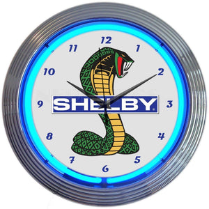 Aarne Shelby Cobra Ford Olp Mustang Neon Clock