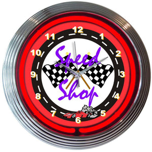 Zola Speed Shop Neon Clock