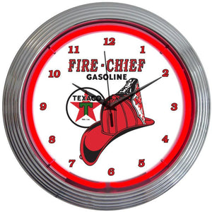 Jennifer Texaco Fire Chief Neon Clock