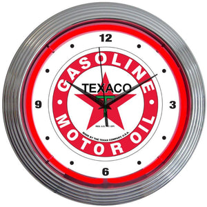 Steenie Texaco Gasoline Neon Clock