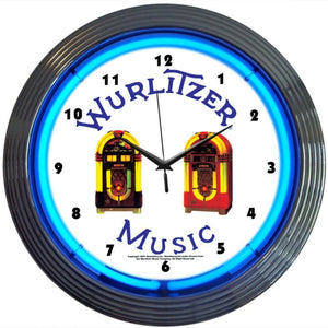Manu Wurlitzer Jukebox Neon Clock