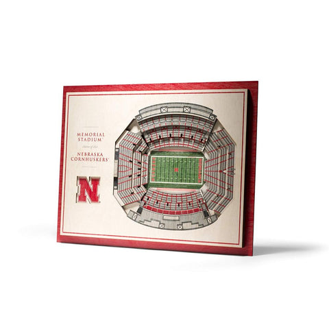 NCAA 5-Layer 17 x 13 StadiumViews 3D Wall Art