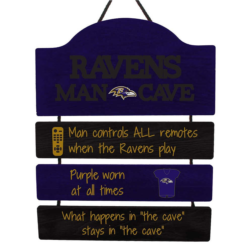 NFL Team Logo Mancave Hanging Wall Sign