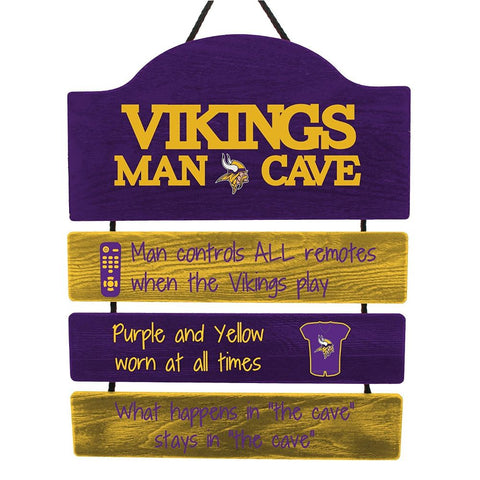 Image of NFL Team Logo Mancave Hanging Wall Sign