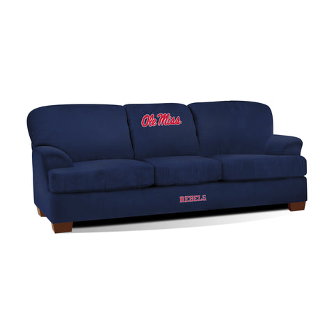 UNIVERSITY OF MISSISSIPPI FIRST TEAM MICROFIBER SOFA