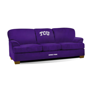 TCU FIRST TEAM MICROFIBER SOFA